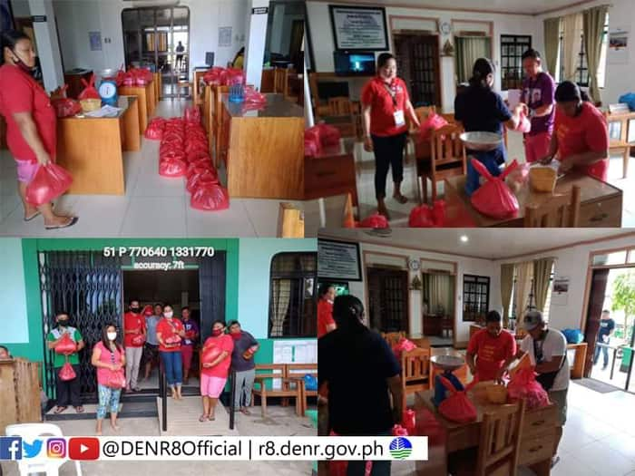 CENRO DOLORES' contractual employees get relief packs