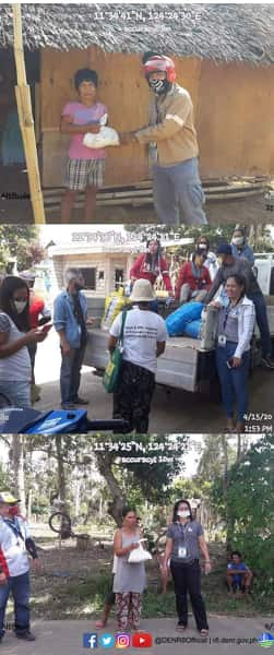 PENRO BILIRAN conducts relief operation in Brgy. Larrazabal