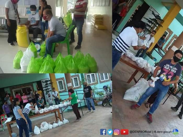 PENRO LEYTE rations relief goods for its contractual employees